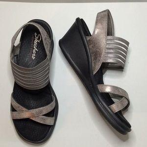 Skechers Rumblers-Glam Society wedge sandal S 8.5